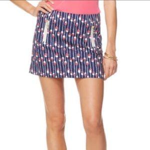 Navy hot pink buoy skirt 4